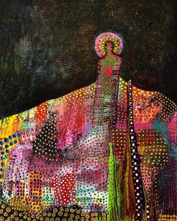 Night Sower, 2018, acrylic on canvas, 20