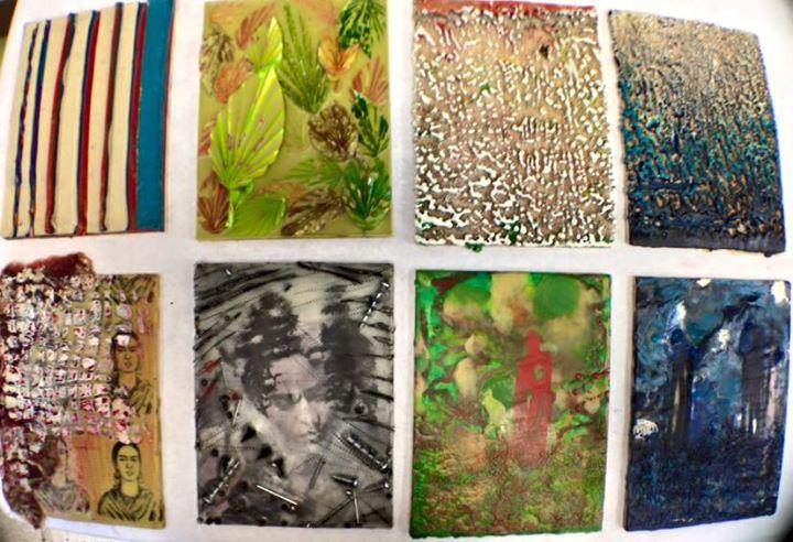 Group of Encaustic Paintings