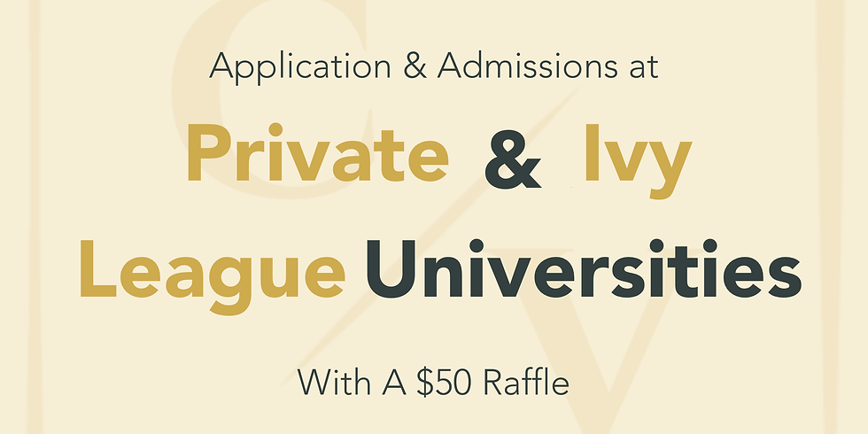 Private & Ivy League Admissions
