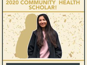 2020 Community Health Scholar Winner