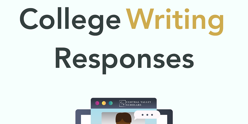 One-on-One Assistance with College Writing Responses
