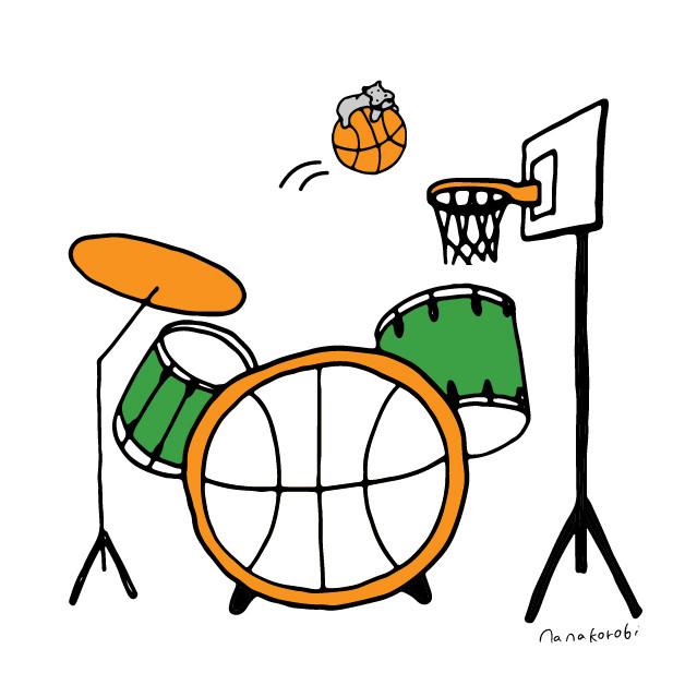 ドラム・バスケットのイラスト