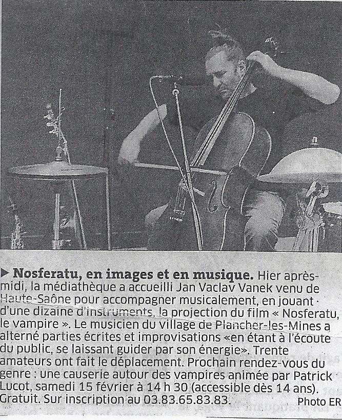 """Nosferatu, le vampire"" ciné-concert"
