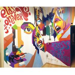 фрагмент росписи в студии