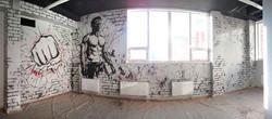 роспись стен спортивного зала