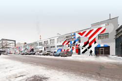 роспись фасада дома в Москве дизайн-проект