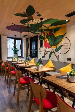 Роспись стен в кафе по проекту Chef Design