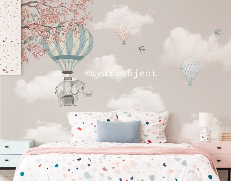 облака-и-водушные-шары-роспись-стены-дет