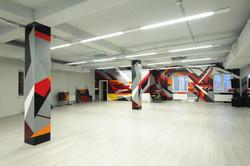 граффити на стене геометрическая абстрация (7)