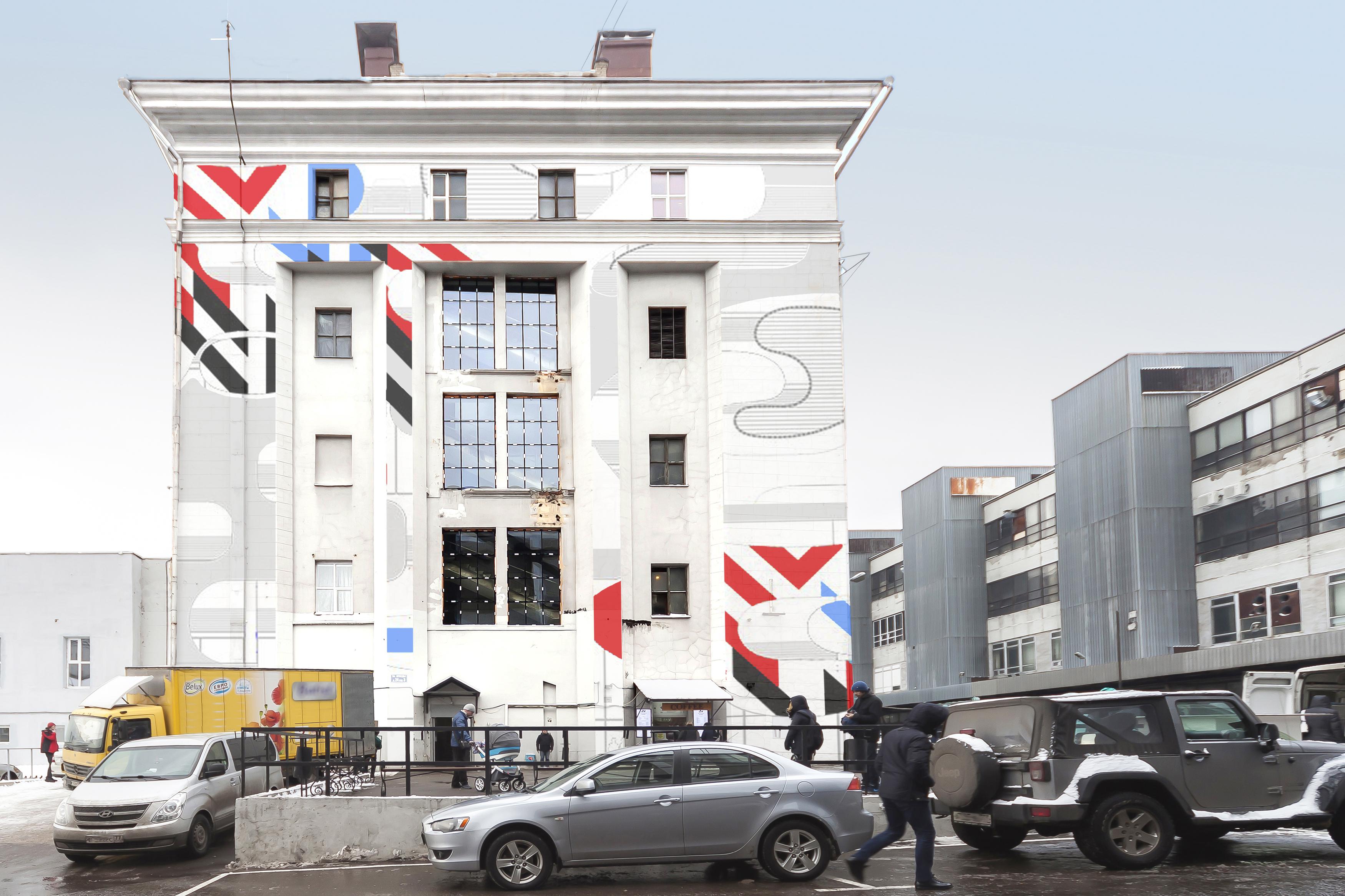 роспись фасада здания дизайн проект