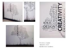 шрифты-на-стене,композиция-дерево-слов--роспись-студии