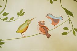 роспись детской комнаты в москве - дизайн детской москва -красивая детская