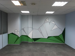 геометрическая роспись стен