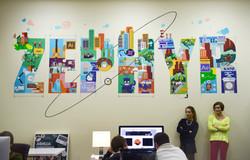 роспись современной студии молодежного офиса
