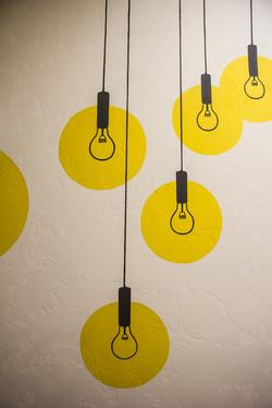яркая роспись стен в офисе в Москве по проекту Chef Design
