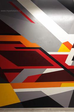 граффити на стене геометрическая абстрация (1)