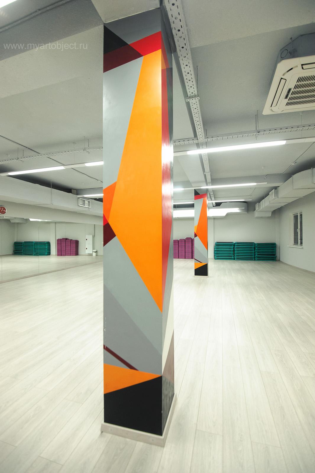 граффити на стене геометрическая абстрация (6)