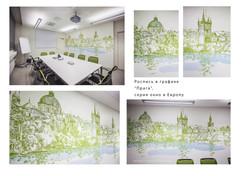Роспись-стены-Прага-в-графике,-окно-в-Европу