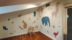 современная роспись стен детской животные
