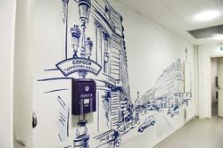улица парижа иллюстрация на стене
