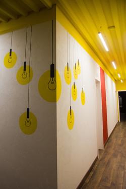 граффити в офисе в Москве по проекту Chef Design