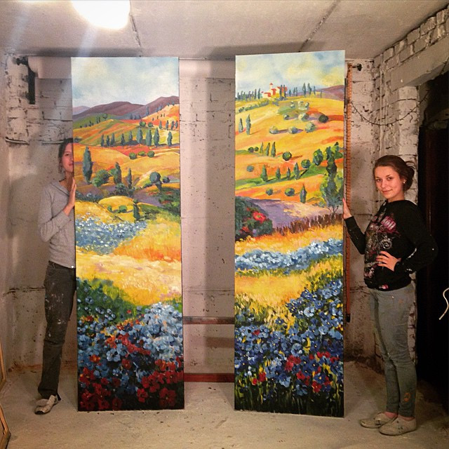 Instagram - Finished in 2 days, #toscana #canvas for #Italian #pizza #mural #gra