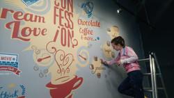 роспись кофейни и конфетного магазина