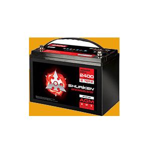 2400W / 120AMP HOURS AGM 12V Battery