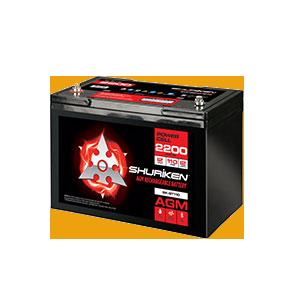 2200W / 110AMP HOURS AGM 12V Battery