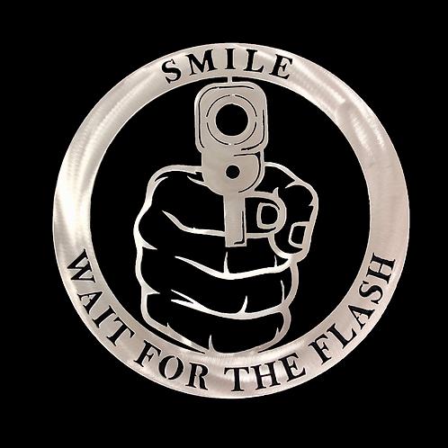 Gun Sign Smile