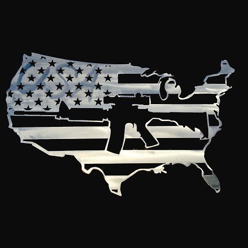 USA with Gun