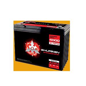 4000W / 140AMP HOURS AGM 12V Battery