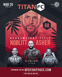 Heavyweight and Flyweight Titles on the line at Titan FC 68 on March 26