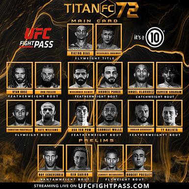 Titan FC 72 Main Card Preview