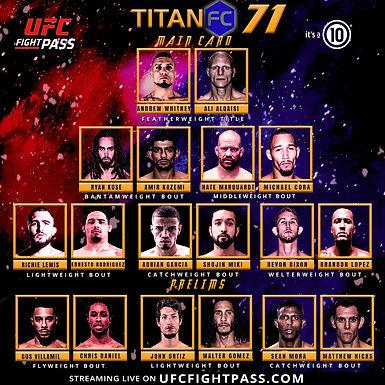 Titan FC 71 Main Card Preview