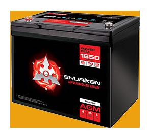 1650W / 70AMP HOURS AGM 12V Battery