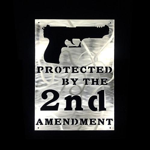 Protected 2nd Amendment Gun Sign