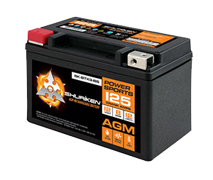125 CRANK AMPS / 8AMP HOURS AGM Power Sports 12V Battery