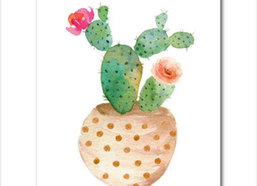 Wall Paper Cactus redondo 20x30