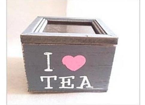 Cajita de té madera - I Love Tea