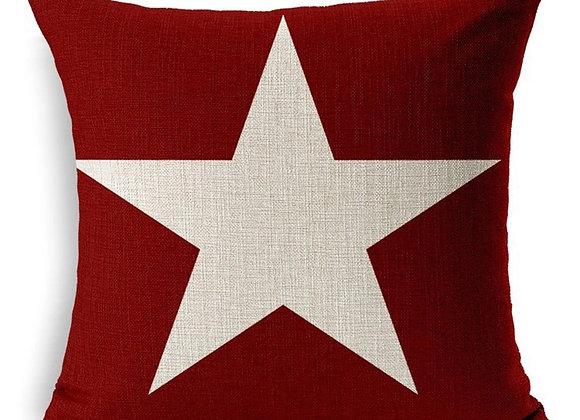 Cojín Burdeo One Star