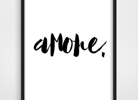 Lona Amore 40x60 - para enmarcar.