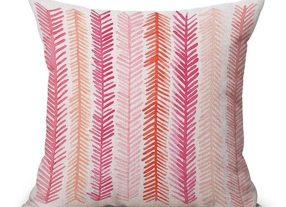 Cojín hoja rosa rectangular