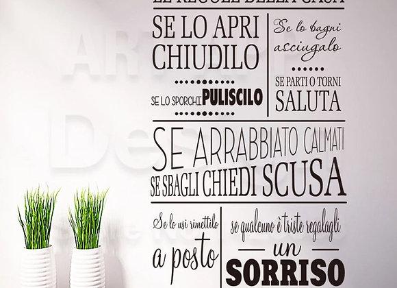 """Wallpaper Italia """"Le Regole della Casa"""""""
