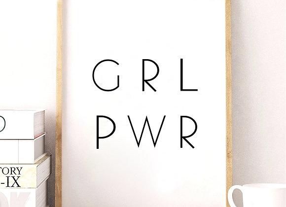 Lámina Girl Power