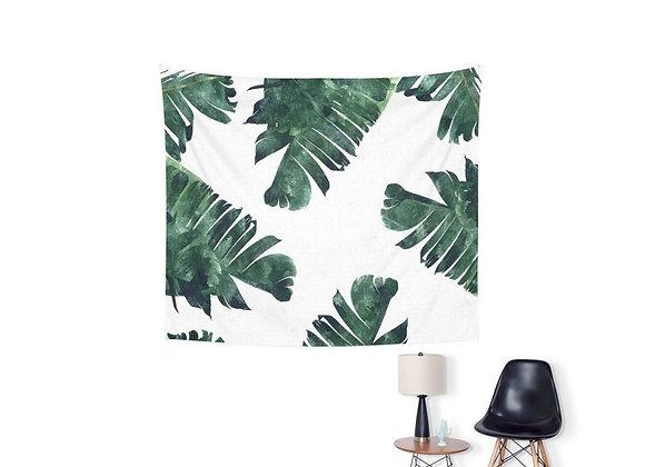 Tapestry Hojas de Plátano fondo blanco
