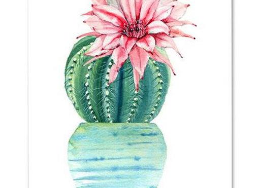 Acuarela nórdica cactus 40x50