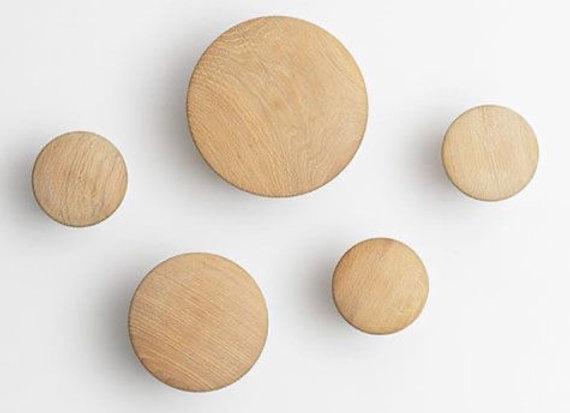 Set Perchas de maderas (5 unidades diferentes tamaños)