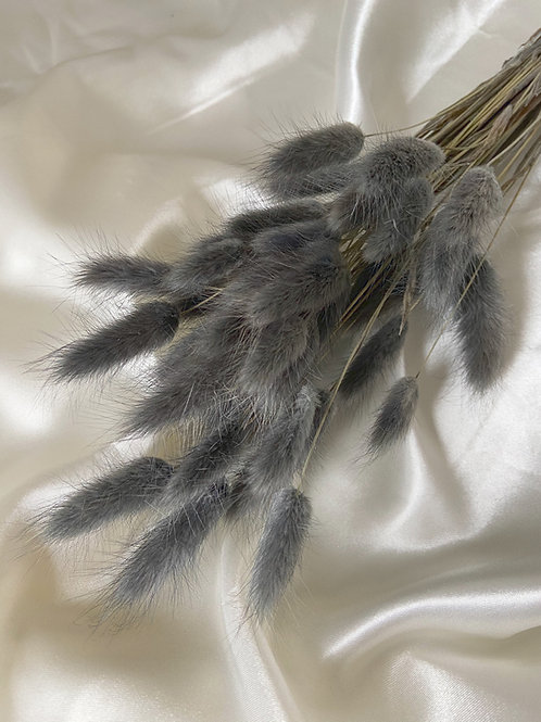 Charcoal Grey Bunny Tails