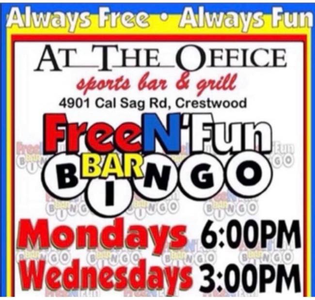 free n fun bar bingo at the office sport